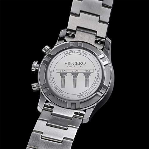 Vincero Luxus Bellwether Herren Armbanduhr - Roségold mit schwarzem Lederarmband
