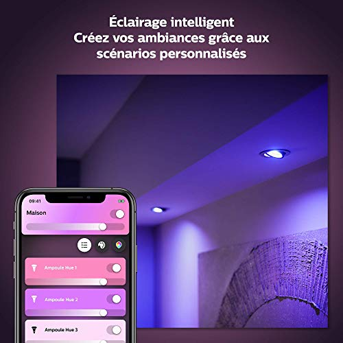 41UrhC8TuRL Bon Philips Hue !  Philips Hue Ampoules LED Connectées White & Color Ambiance B22 Compatible Bluetooth, Fonctionne avec Alexa Pack de ...