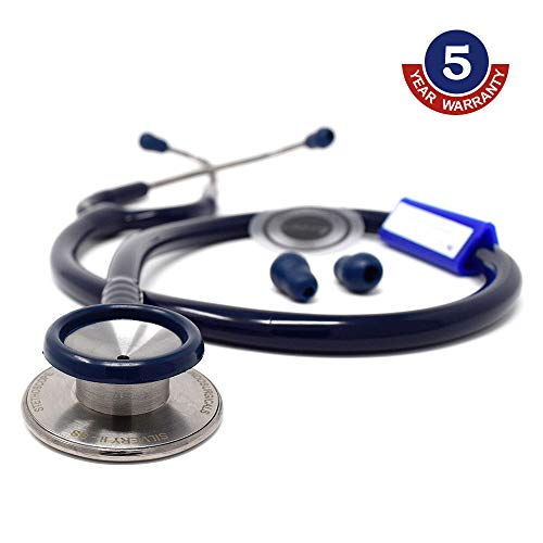 IndoSurgicals Silvery II-SS Stethoscope (Blue)