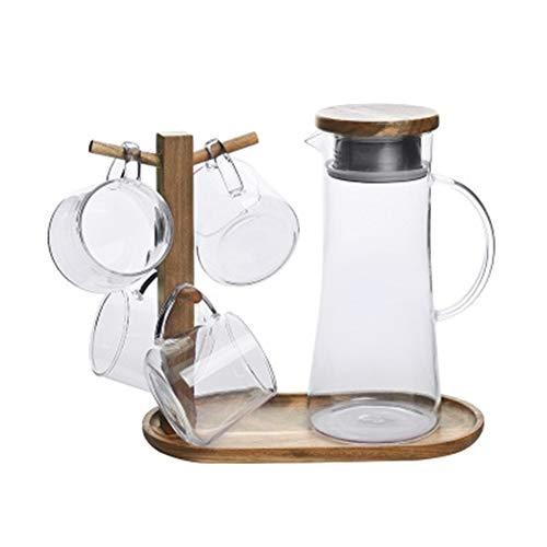 Teiera in acciaio inox con coperchio in vetro con grande capacità da 1,5 lt