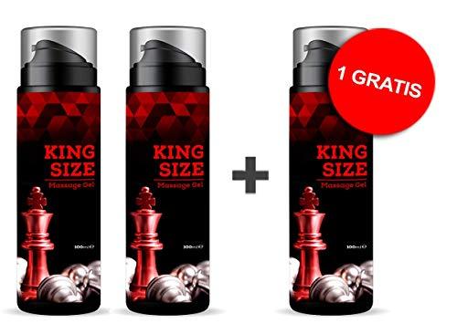 Kingsize Gel | Enlargement Effect | Penis Creme extrem Hochdosiert | 300 ml | 2+1 gratis