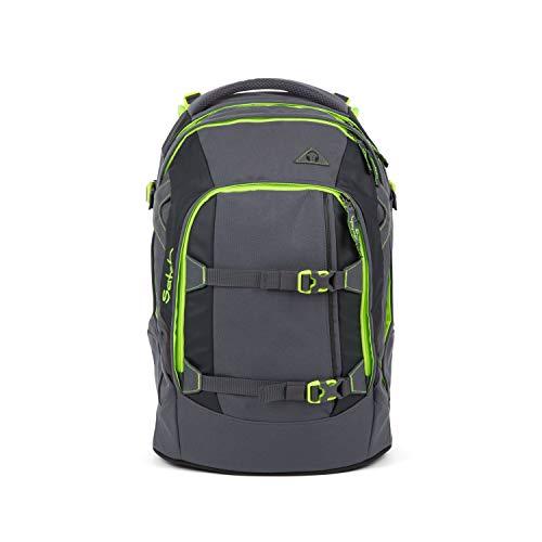 Satch Pack Phantom, ergonomischer Schulrucksack, 30 Liter, Organisationstalent, Grau/Grün