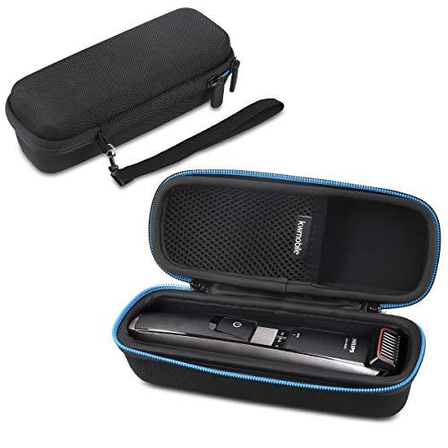 kwmobile custodia per Philips series 5000 7000 9000 1000 - astuccio rigido con scomparto rasoio regolabarba beardtrimmer tasca in rete accessori nero