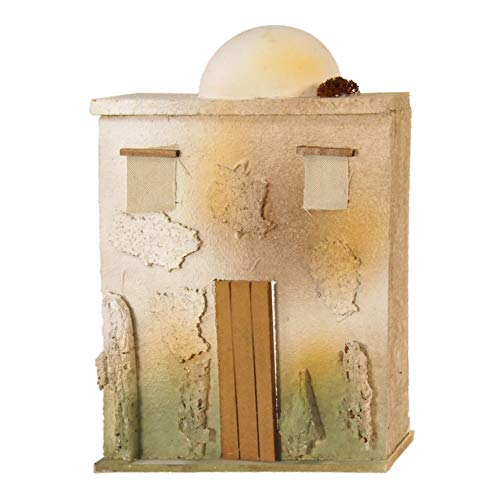De Sisinno Casa per presepe Orientale/Arabo con Cupola, Linea Prêt-à-Porter, per statuine da 10 cm - Dim. H25x20x4 cm