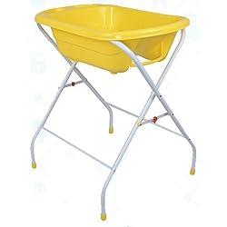 Bañera para bebé Bebe Style portátil y plegable, con pies