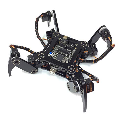 Freenove Quadruped Robot Kit, Compatible with Arduino Raspberry Pi Processing, Spider Walking Crawling Steam STEM Project