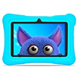 """Dragon Touch Kindertablet, Y88X Pro Kinder Tablet Pad Lerntablet für Kids, 2 GB 16 GB, Android 9.0 OS, 7"""" IPS-Touchscreen, G-Sensor, Kidoz & Google Play vorinstalliert mit blau Schutzhülle (Blau)"""