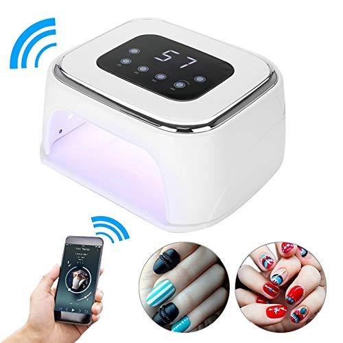 Essiccatore per le unghie 84W con Bluetooth, lampada UV per unghie a LED con 42 luci e 4 timer e...