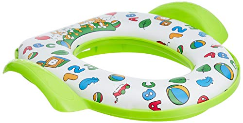 Amazon Brand - Solimo Baby Potty Training Seat with Cushion, Green