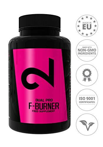 Dual Pro F-burner | Pillole Brucia Grassi Per Uomini E Donne | 100 Capsule Vegane | Perdita Di Peso Senza Sport | Soppressore Dell'appetito Naturale |Supplemento Estremamente Forte |Senza Additivi