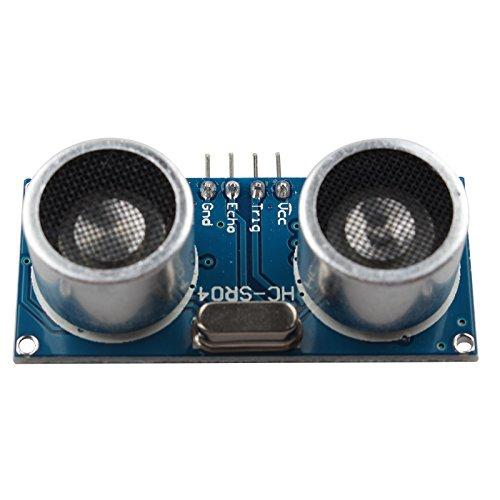 Specifiche: Queste prestazioni del modulo di misurazione della distanza a sensori ultrasonici sono stabili, il modulo misura la distanza in modo preciso. Il modulo è dotato di alta precisione, punti ciechi (3cm) super vicini. Questo modulo f...