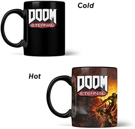 Official DOOM Metal Badge Heat Changing Mug