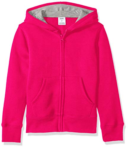 Amazon Essentials Fleece Zip-up Hoodie Fashion, Frambuesa, XS