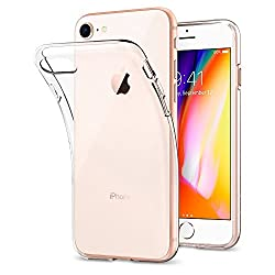 Kaufen iPhone 8 Hülle, iPhone 7 Hülle, Spigen® [Liquid Crystal] Soft Flex Silikon [Crystal Clear] Transparent Ultra Dünn Schlank Bumper-Style Handyhülle Premium Kratzfest TPU Durchsichtige Schutzhülle für Apple iPhone 7 / iPhone 8 Case Cover - Crystal Clear (042CS20435)
