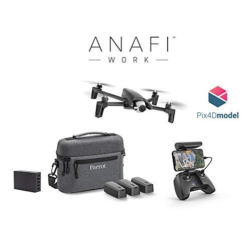 Parrot Drone 4K Anafi Work, Soluzione Completa Portatile per Professionisti, Fotocamera 4K HDR 21 MP, Orientamento a 180° e Zoom Senza Perdita di Qualità, Software di Modellazione 3D