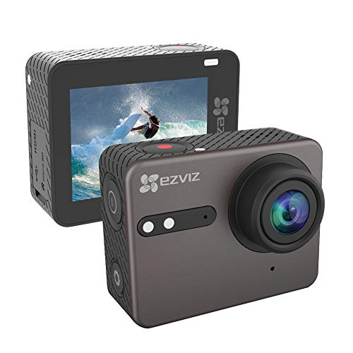 EZVIZ S6 Action Camera Action Cam 4K Impermeabile con Comando vocale e Wi-Fi Bluetooth Schermo HD IPS Touchscreen da 2' Angolo di Visione con guadrangolo 150° Controllo remoto App Modello S6