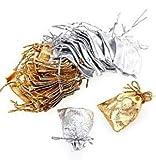 Sacchetti in organza, ideali per matrimoni, gioielli in argento 20PCS 7?cm x 9?cm