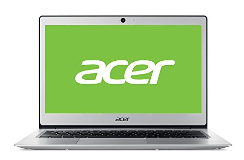 "Acer Swift 1 | SF113-31 - Ordenador portátil ultraslim de 13.3"" HD (Intel Celeron N3350, 4 GB RAM, 64 GB eMMC, UMA, Windows 10 Home con S Mode & Office 365 Personal) Plata - Teclado QWERTY Español"