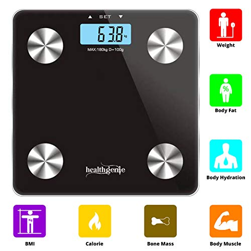 Healthgenie Body Fat Analyzer Weighing Scale (Black)
