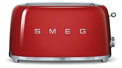 Smeg Tostapane TSF02RDEU, 1500 W, Acciaio Inossidabile, 4 Scomparti, Rosso