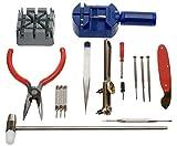 Kit riparazione orologi professionale apri casse maglie batteria cinturino 16 pz