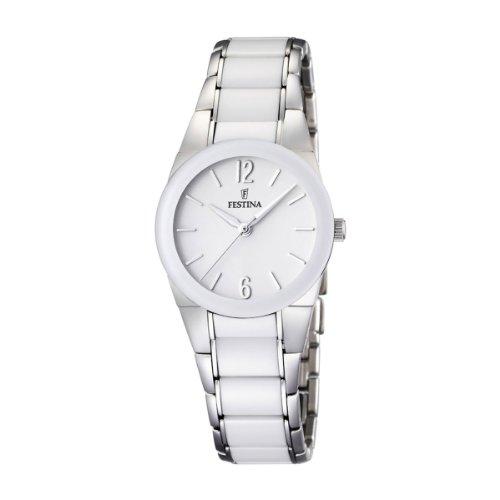 Festina Damen Analog Quarz Uhr mit Keramik Armband F16534/1