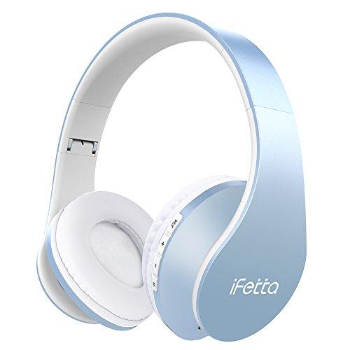 Bluetooth Kopfhörer, Ifecco Bluetooth 4.0 Wirless Ohrpolster Kopfhörer, Stereo-HeadsetSport Hörer Kompatibel mit Allen Gängigen Smartphones/Tablets/Notebooks (himmelblau)