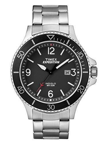 Timex TW4B10900 - Orologio da uomo con movimento al quarzo, quadrante analogico classico e cinturino in acciaio inox