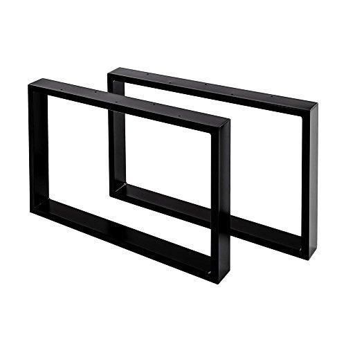Sossai Stahl Tischgestell/Couchtisch-Untergestell Basic | 2 Stück (Paar) | Breite 70 cm x Höhe 40 cm - Tischkufen CKK1-BL7040-2 | Farbe: Schwarz (pulverbeschichtet)