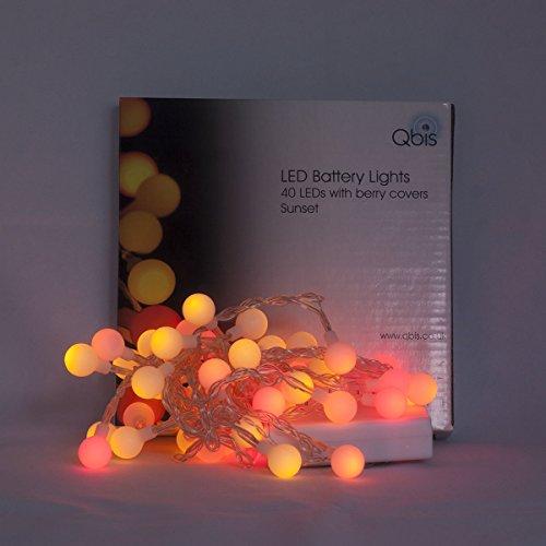 guirlande lumineuse led avec 40 petites boules sur c ble transparent indoor lumi res de no l. Black Bedroom Furniture Sets. Home Design Ideas