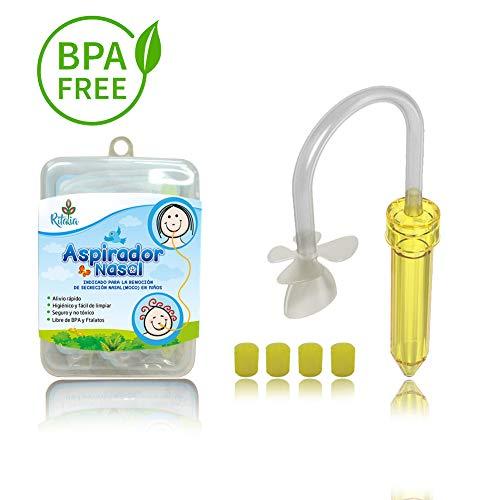 Aspiratore nasale per bambino di Ritalia con 5 filtri igienici. Sollievo dalla congestione sinusale...