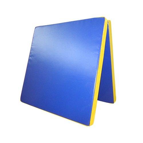 Grevinga - Colchoneta plegable de diferentes colores y tamaños, peso volumétrico: 22 kg/m³ Blau - Gelb Talla:200 x 200 x 8 cm