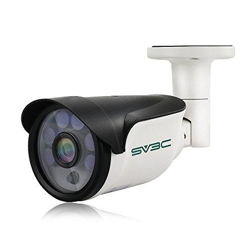 SV3C 1080P POE Telecamera IP Esterno,Videocamera Sorveglianza Esterno con 15m Visione Notturna, Protezione dall'acqua certificata IP66, Vista a Distanza via Iphone/Android/Ipad/Windows