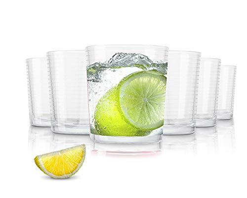 Pasabahce Andorra Bicchieri per Acqua/390 ml/Set da 6/Bicchieri di Alta qualità/Lavabili in Lavastoviglie/Bicchieri in Cristallo
