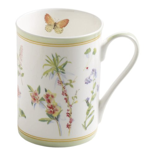 Maxwell & Williams S303004 Butterfly Garden - Taza (350 ml, en caja de regalo), color verde