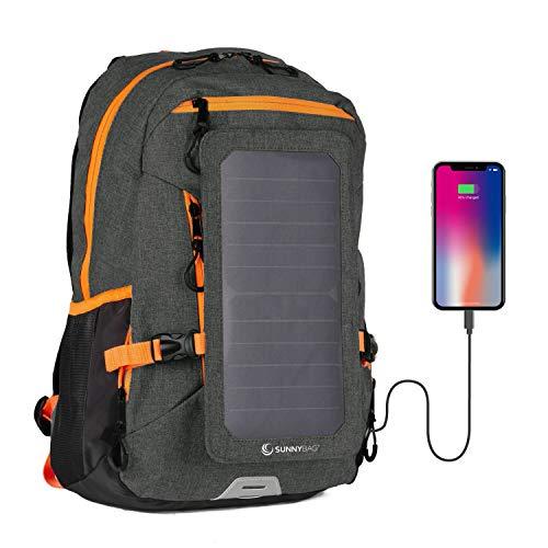 SunnyBAG Explorer+ Zaino con Pannello Solare Integrato da 6 Watt | Impermeabile e Resistente | con...