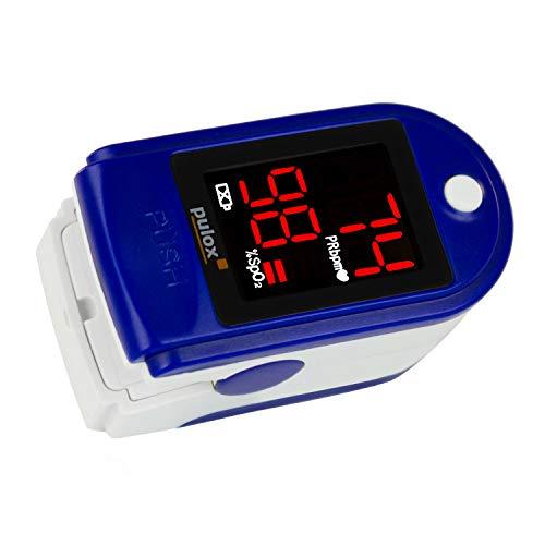 Pulsossimetro Pulox-PO-100 con display a LED saturimetro in colore blu