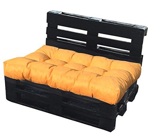 Cuscino per Bancale 120x80x15 cm - Cuscino per Seduta Divano Pallet di legno - COLORE GIALLO...