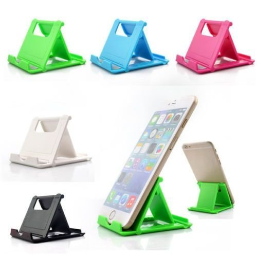 Dot9ti9 Mobile Stand Holder (Pack of 1) Big Size Universal Adjustable 5 Steps Fold-able for All Phone Tablet Desk (Assorted Color) 5
