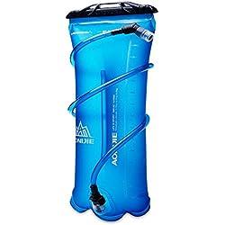 Zantec Faltbare Sport Wasserflasche Tasche, 1.5L  2L  3L Tragbare Weiche TPU, für Laufende Camping Wandern