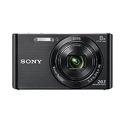 Kaufen Sony DSC-W830 Digitalkamera (20,1 Megapixel, 8x optischer Zoom, 6,8 cm (2,7 Zoll) LC-Display, 25mm Carl Zeiss Vario Tessar Weitwinkelobjektiv, SteadyShot) schwarz