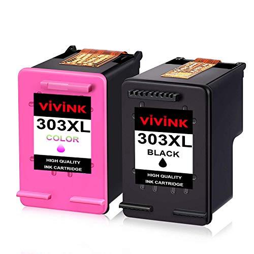 VIVINK Cartucce d'inchiostro rigenerate di ricambio per HP 303 XL 303XL Combo Pack funziona con...