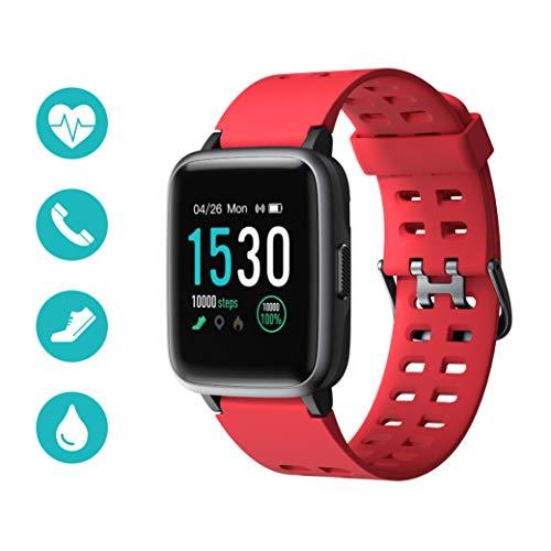 Huyeta Smartwatch Fitness Tracker IP68 Impermeabile Orologio Sportivo con Cardiofrequenzimetro,...
