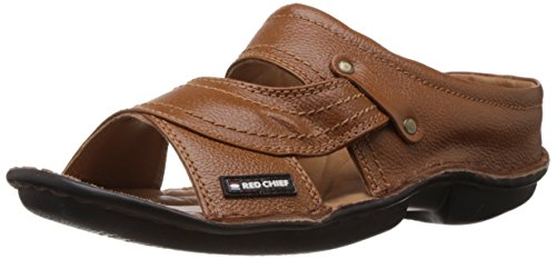 Redchief Men's Tan Leather Sandals and Floaters - 8 UK (RC0248 006)
