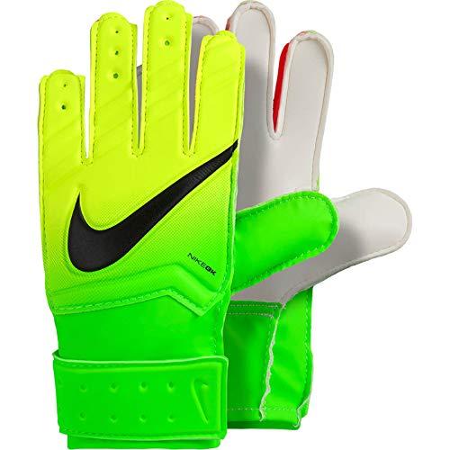 Nike Nk GK Jr Match-Fa16, Guanti da Portiere Unisex Bambini, Electric Green/Volt/Nero, 4