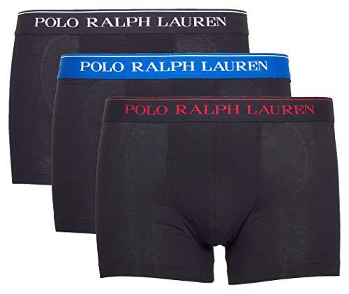 Polo Ralph Lauren Hombre Calzoncillos Paquete de 3 - Algodón, Negro (L (Large))