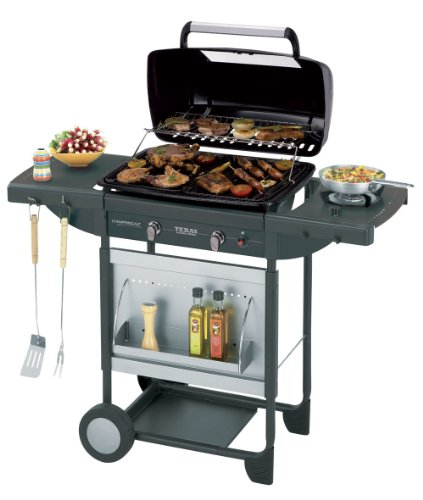 Campingaz Barbecue Gas Texas Revolution, BBQ Gas per Pietre Laviche, Grill Barbecue a Gas Compatto...