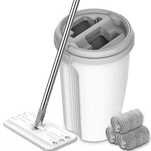 Mop per Uso Domestico a Mano Lavaggio Bagnato a duplice Uso Lazy One Drag Net Supporto Rotante...