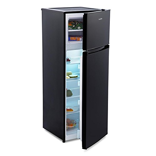 Klarstein Height Cool Black • frigo-congelatore • 71 l • Scomparto congelatore da 41 Litri •...