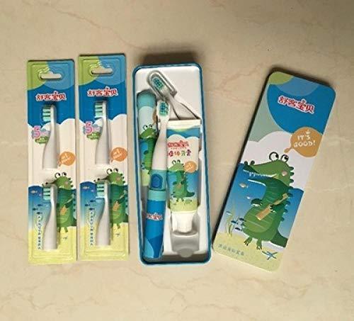 Testina per spazzolino da denti elettrico sonico per bambini bambino testina di ricambio originale soffice pelliccia impermeabile coccodrillo host 6 testine 1